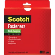 "Scotch® Multi-Purpose Fastener Extra Wide, White, 2"" x 10'"