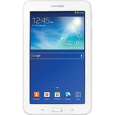"Samsung Galaxy Tab 3 Lite Tablet (SM-T110NDWAXAC) 7.0"", 1.2GHz Dual-Core, Jelly Bean 4.2, 1GB RAM, 8 GB HDD, White 