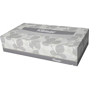 KIMBERLY-CLARK PROFESSIONAL ® KLEENEX 21606 Facial Tissue, Color: White, 8 3/16