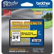 "Brother® TZe-S641CS P-Touch® Label Tape, 3/4"" Black on Yellow with Extra Strength Adhesive"