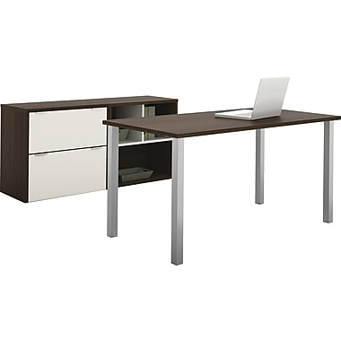 Contempo Executive desk kit in Tuxedo & Sandstone