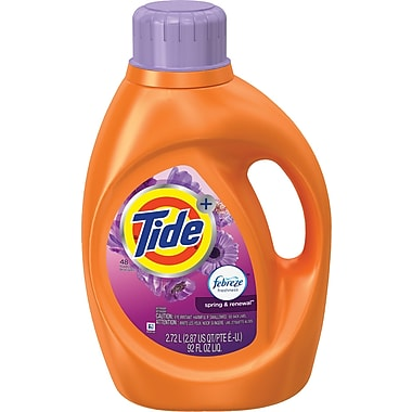 Tide® Plus Febreze Laundry Detergent, Spring & Renewal, 92 oz.