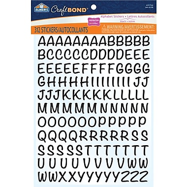 Elmer's® CraftBond Alphabet Stickers, Black