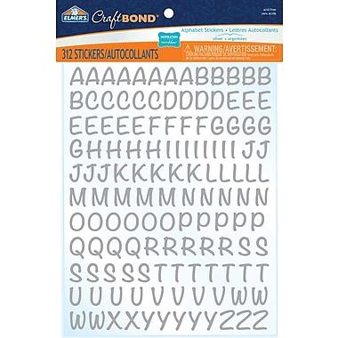 Elmer's® CraftBond Alphabet Stickers, Silver