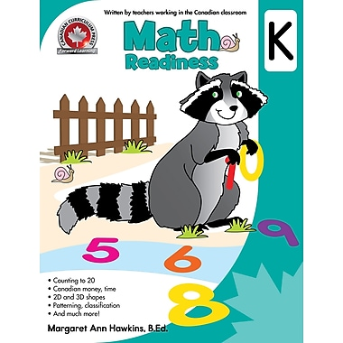 Canadian Curriculum Press Math Workbook, Kindergarten