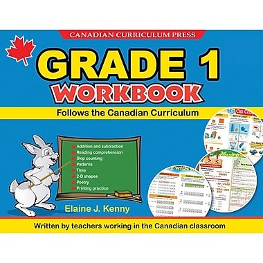 Canadian Curriculum Press – Cahier d'activités de plancher, 1re année, anglais