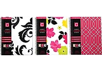 Studio C Fashionista 1-Subject Notebook, 10-1/2' x 8-1/2', 3/Pack