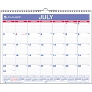 2014/2015 AT-A-GLANCE® Academic Monthly Wall Calendar, 15 x 12