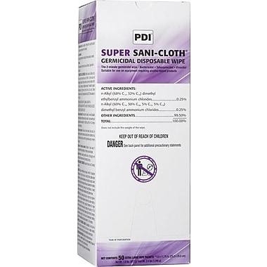 Super Sani-Cloth® Germicidal Wipes, 11 1/2in. L x 11 3/4in. W, 150/Carton