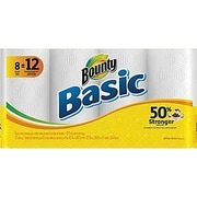 Bounty® Basic Paper Towel Rolls, 8 Giant Rolls/Pack