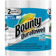 Bounty® DuraTowel® Select-A-Size Paper Towels, 2-Ply, 2 Plus Rolls/Pack