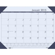 House of Doolittle™ 2015 Monthly, January-December, EcoTones Compact Desk Pad, Blue, 18 1/2 x 13