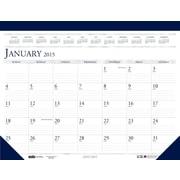 House of Doolittle™ 2015 , Monthly, January-December, Blue/Gray, Desk Pad Calendar, 22 x 17