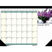 House of Doolittle™ 2015 Monthly, January-December, Floral Desk Pad, 22 x 17