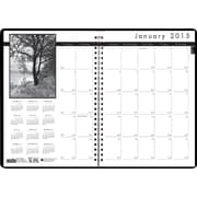 House of Doolittle™ 2015 Monthly, December-January, Black on White Planner, White/Black, 8 1/2 x 11