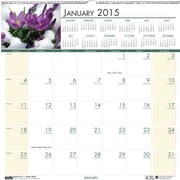 House of Doolittle™ 2015 , Monthly, January-December, Floral Wall Calendar, 12 x 12