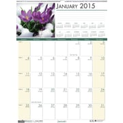 House of Doolittle™ 2015 , Monthly, January-December, Floral Wall Calendar, 12 x 16 1/2