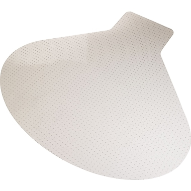 Staples Medium Pile Carpet Chair Mat, L/Corner Desk, 66in.W x 60in.L