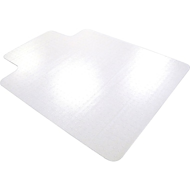 Floortex Traditional 56''x48'' Polycarbonate Chair Mat for Hard Floor, Rectangular w/Lip (FLR1213419LR)