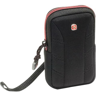 Wenger Delta Case for Most Small-Size Digital Cameras, Black/Red