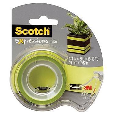 Scotch® Expressions Tape, 19 mm x 7.62 m, Green