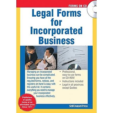 Self Counsel Press Legal Forms for Incorporated Business