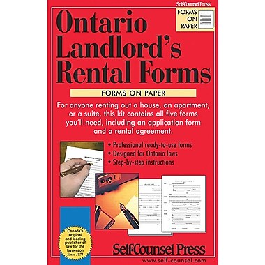 Self Counsel Press Ontario Landlord's Rental Forms