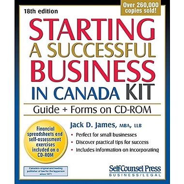Self Counsel Press Starting a Successful Business in Canada Kit