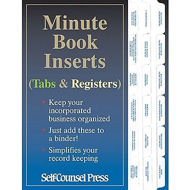 Self Counsel Press Minute Book Inserts