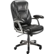 Staples® Breeford™ Bonded Leather Managers Chair, Grey