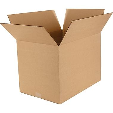 Boîtes en carton ondulé à profondeur variable, 20 po x 14 po x 14 po, lot de 15