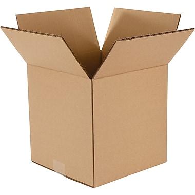 Boîtes de carton ondulé double paroi, capacité de 275 lb, 10 x 10 x 10 (po), paq./15