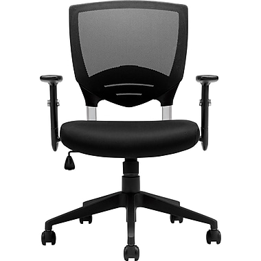 Offices To Go Ergonomic Mesh-Back Manager's Chair, Adjustable Arms, Black