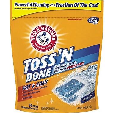 Arm & Hammer Toss 'N Done Laundry Detergent Power Paks, 60/Pk