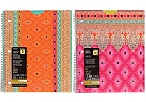 Studio C Taj Mahal 1-Subject Notebook, 10 1/2' x 8 1/2', 2/Pack