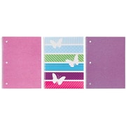 Studio C All A Flutter 1-Subject Notebook, 10-1/2 x 8-1/2, 3/Pack