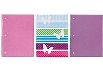Studio C All A Flutter 1-Subject Notebook, 10-1/2' x 8-1/2', 3/Pack