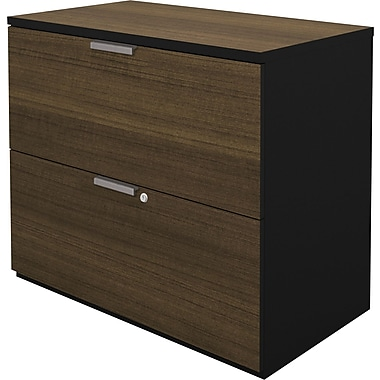bestar Pro-Concept 2 Drawer Lateral File, Black,Letter/Legal, 27.81''W (110630-1198)