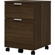 bestar Contempo 1 Drawer Mobile/Pedestal File, Dark Wood,Letter/Legal, 15.5''W (50640-1178)