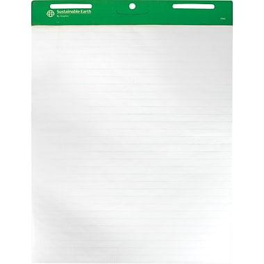 Sustainable Earth by Staples® 27in. x 34in., 1in. Ruled Easel Pads