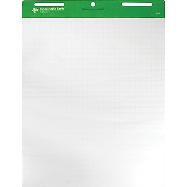 Sustainable Earth by Staples® 27.25in. x 35.75in., 1in. Squares Ruled Easel Pads, 4/Pack