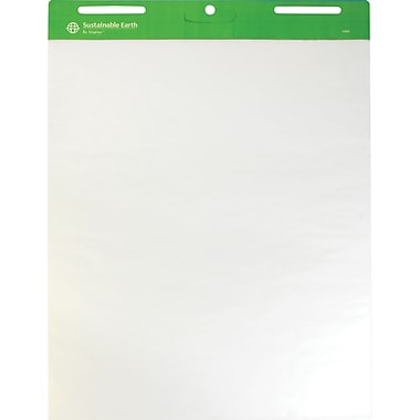 Sustainable Earth by Staples® 27in. x 34in., Plain White Easel Pads