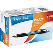 Paper Mate Inkjoy 550 Ballpoint Retractable Pens, Medium Point, Blue, Dozen