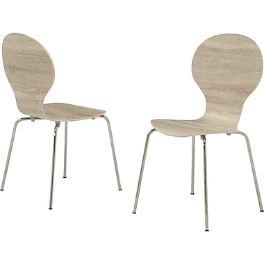 Monarch Dining Chairs Wood / Metal Casual / Kitchen Natural