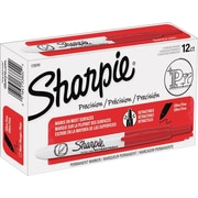 Sharpie Retractable Permanent Marker, Ultra Fine, Red, Dozen