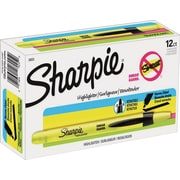 Sharpie® Accent® Retractable Pocket Highlighters, Chisel Tip, Fluorescent Yellow, 12/pk (28025)