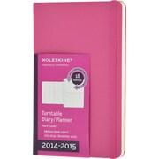 Moleskine 2014-2015 Turntable Planner, 18M, Weekly, Magenta, Hard Cover, 3 1/2 x 5 1/2