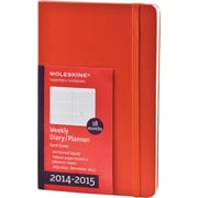 Moleskine 2014-2015 Turntable Planner, 18M, Weekly, Red, Hard Cover, 5 x 8 1/4