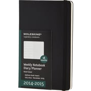 Moleskine 2014-2015 Turntable Planner, 18M, Weekly, Black, Hard Cover, 5 x 8 1/4