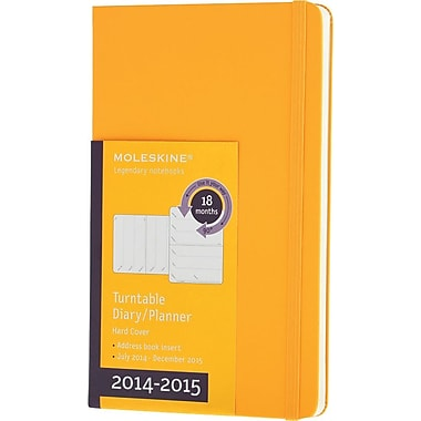 Moleskine 2014-2015 Turntable Planner, 18M, Weekly, Yellow, Hard Cover, 3 1/2in. x 5 1/2in.